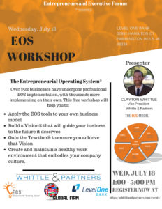 Detroit EOS Workshop, Entrepreneurial Operating System Detroit
